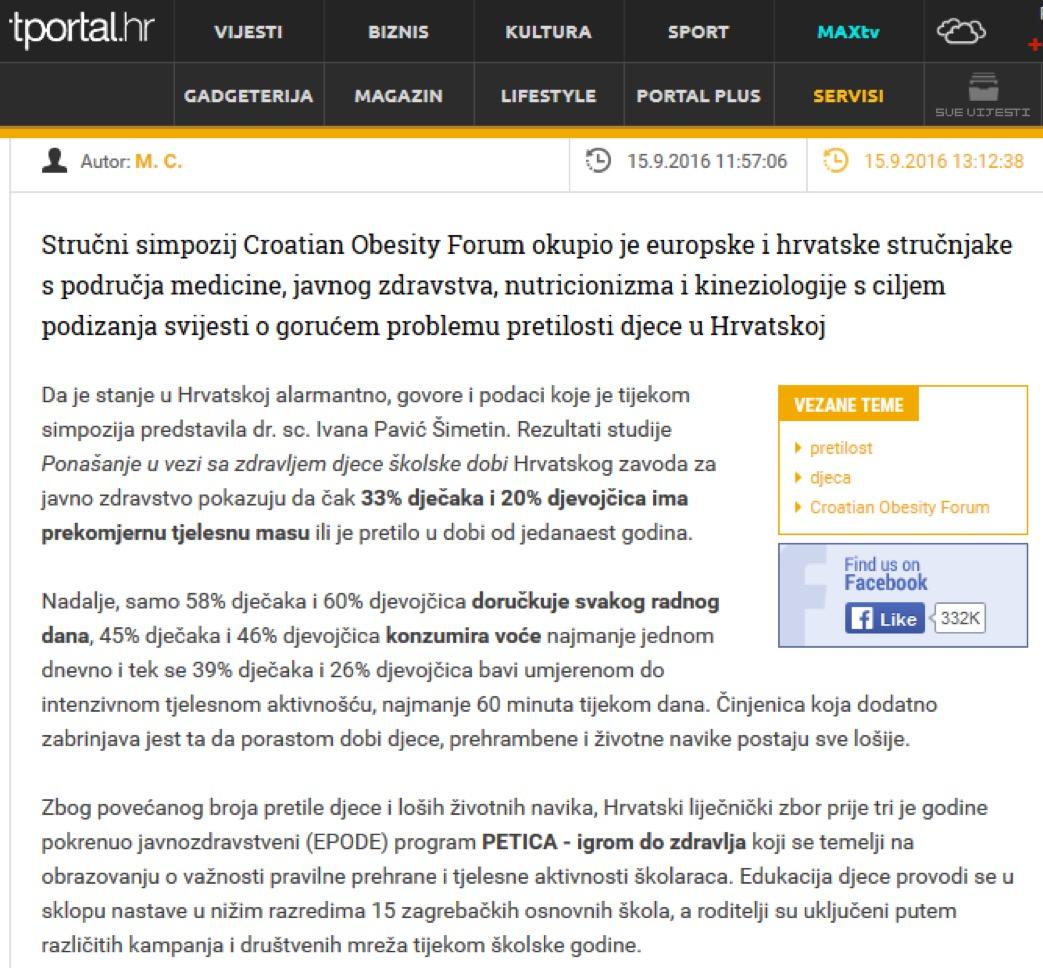 Media Tportal Petica Igrom Do Zdravlja