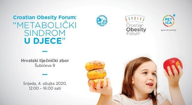 Pozivamo vas na Croatian Obestiy Forum: ,,Metabolički sindrom u djece'